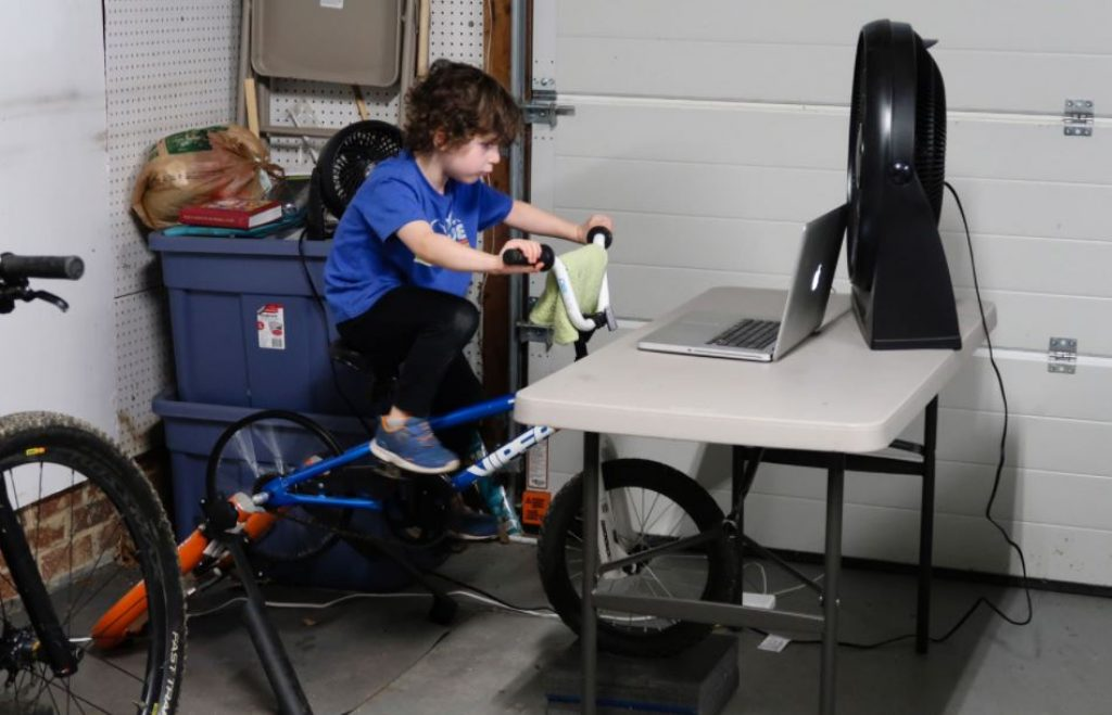 Kids bike trainer